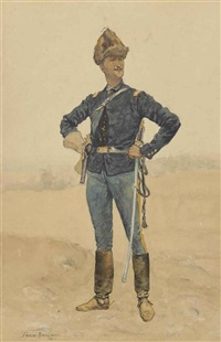 united states cavalry officer (winter; army scout) by frederic remington