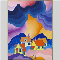 slumbering village by ted harrison