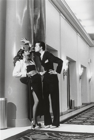 woman into man french vogue paris by helmut newton