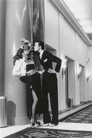 woman into man french vogue paris by helmut newton
