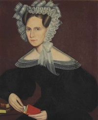 portrait of miss a. e. allen by ammi phillips