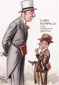 mr. j.h. whitney u.s. ambassador (+ 3 others, one 1957; 4 works) by peter ronald buchanan