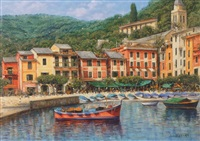 view of portofino by claudio ciardi