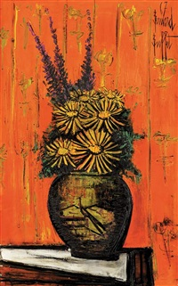 bouquet au vase chinois i by bernard buffet