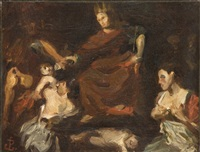 le jugement de salomon (after valentin de boulogne) by jean paul laurens