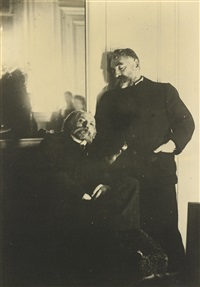 pierre august renoir and stephane mallarmé by edgar degas