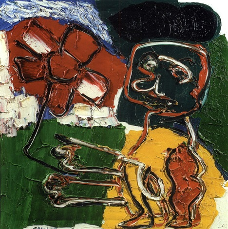 flower girl by karel appel