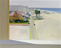 view of santa monica beach by larry cohen