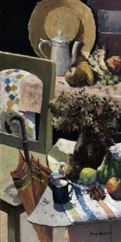 composizione con ombrello e cappellino by dino aliberti