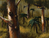 parrots through the trees by albert lee tucker