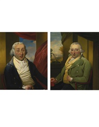 portraits of the american merchant samuel hart and his brother moses hart (pair) by richard livesay
