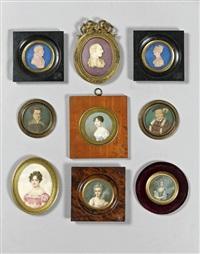 paire de petits portraits d'homme et de femme (pair) by giovanni antonio santarelli