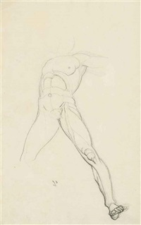 studies of the dioscuri (recto and verso) by henry fuseli
