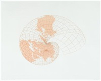map projection: the snail by agnes denes