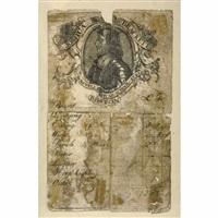 trade card for joshua brackett's cromwell head inn by paul revere
