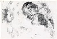 une mère et deux enfants by pierre-auguste renoir