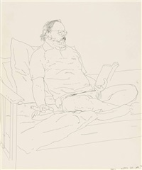 henry geldzahler by david hockney