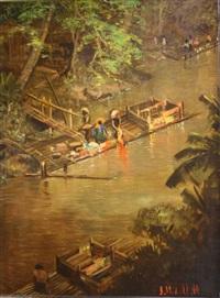 wasdag aan tropische rivier by sudjono abdullah