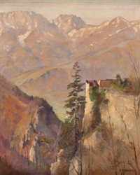 gebirgslandschaft by leo adler