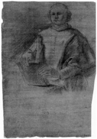 study of a cleric holding a book by gregorio guglielmi