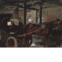 cab stand by charles hoffbauer