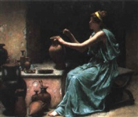 a greek urn painter by reginald ernest arnold