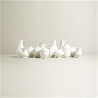 collection of thirteen vases (set of 13) by kpm - königliche porzellan-manufaktur (co.)