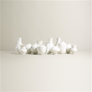 collection of thirteen vases set of 13 by kpm königliche porzellan manufaktur co