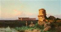 et hyrdepar ved ruinerne i pæstum by alessandro la volpe