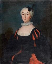 portrait de jeune femme en tenue espagnole by jean-baptiste santerre
