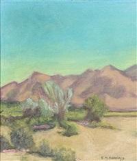 desert landscape by ernest martin hennings