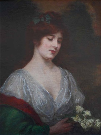 portrait of a girl by abraham abbey alston