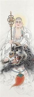 地藏王菩萨 (ksitigarbha bodhisattva) by li tang