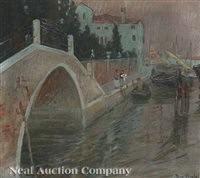 view of venice along the rio nuovo canal by theodore wendel