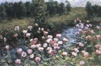 les fleurs pres de la riviere by viatcheslav nabatov