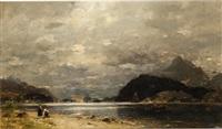 fisherwomen by the shore by georg anton rasmussen