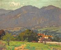 homes along the san gabriel mountains by ferdinand kaufmann