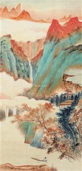 出峡图 立轴 纸本 by zhang daqian