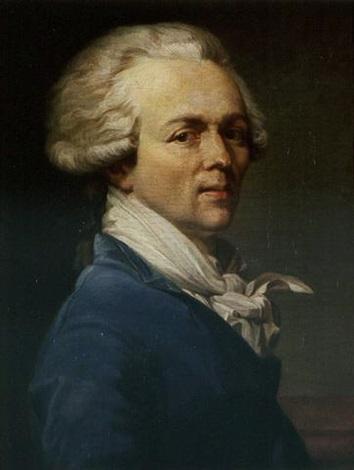 portrait of maximilien,françois,marie,isidore de robespierre by joseph  ducreux