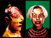 self hybridation (+ self hybridation; 2 works) by orlan