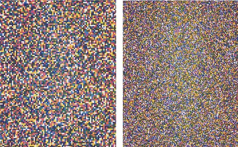 a half times a half times a half (coarse) (+ a half times a half times a half (fine); 2 works) by tauba auerbach
