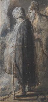 studie zweier männer mit turban by jan lievens