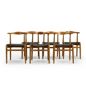 stacking chair set of 6 by hans j wegner
