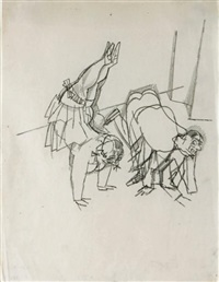 le cours de danse by george grosz