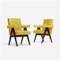 pair of committe armchairs from the assembly, chandigarh (pair) by pierre jeanneret