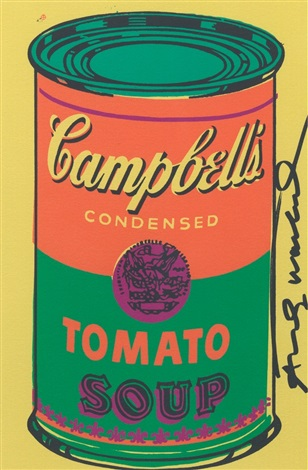 campbells condensed tomato soup can by andy warhol