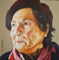 peg, mother of the artist (+ 2 others; 3 works) by dean home