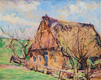farmhouse in early spring by hugo volkwarth
