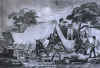 gold prospector's camp by george lacy