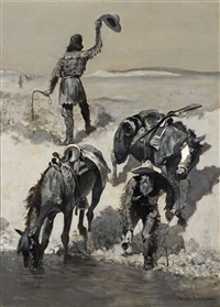 water! by frederic remington